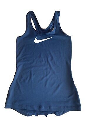 Nike DRI-FIT LADIES GYM VEST TOP Black Size XS