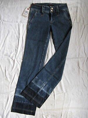 Replay Damen Blue Jeans Denim Stretch W26/L34 low waist slim fit flare leg