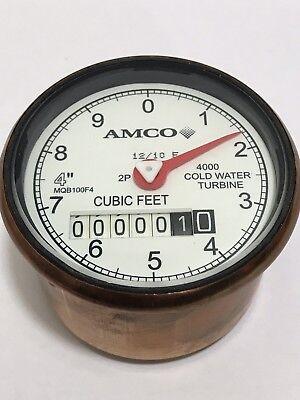 Elster Amco 4 4000 Turbine Water Meter Register Clock 2p Mqb100f