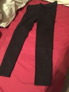 Black ripped pants for ladies