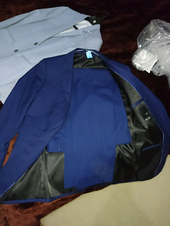 2 mens suits for sale and a pair of industrie chino's never worn.