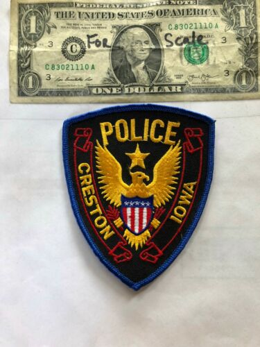Creston Iowa Police Patch Un-sewn great shape