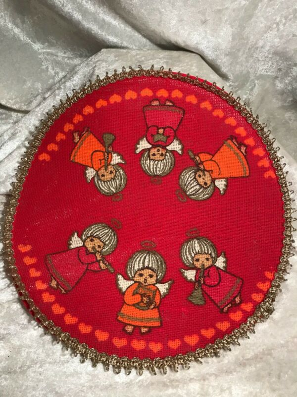 Vintage Angel Miniature Christmas Tree Skirt