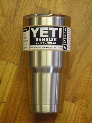 YETI RAMBLER TUMBLER 30 OZ OUNCE STAINLESS BRAND NEW IN YETI PACKAGING WITH LID