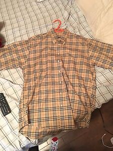 Men's Burberry nova check short sleeve shirt fits big
