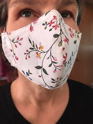 Stoffmasken Baumwolle mit Metallbügel, plastikverpackt, Selbstgenäht, Flexibel