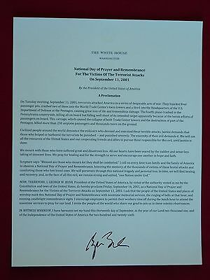 George W Bush Presidential Seal Stationary Proclamation September 11th Attacks