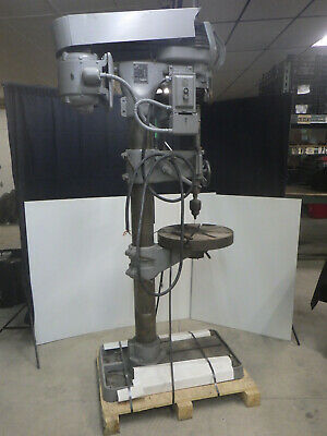Vintage Buffalo No 22 8 Speed Drill Press Wpower Feed Slotted Table 220 3ph