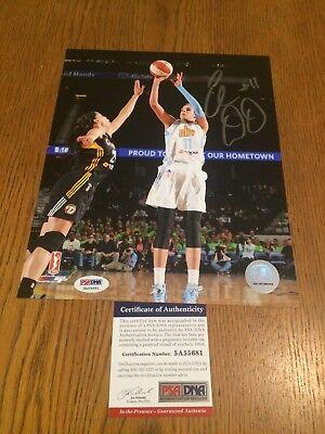 Elena Delle Donne Wnba Washington Mystics Signed 8X10 Coa Psa Dna 5A55681
