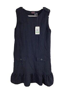 Nautica Girls Size 12/14 Navy Blue School Uniform Dress FREE SHIP NEW $36