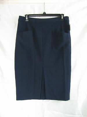 Simply Styled Women's Pocket Pencil Skirt Career Professional Navy Blazer NWT