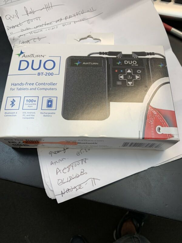 AirTurn Duo 200 Bluetooth Pedal Controller for Tablets & Computers Free Shipping