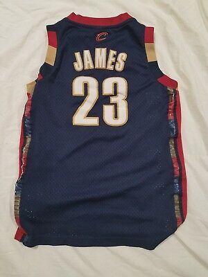 Youth NBA Cleveland Cavaliers Stitched Lebron James Large Reebok Jersey
