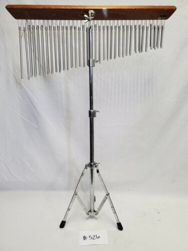OM 35DB PERCUSSION CHIME DOUBLE ROW & ADJUSTABLE INSTRUMENT STAND BUNDLE #526