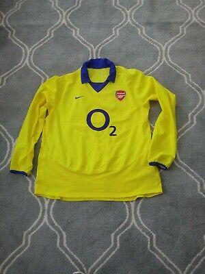 ARSENAL LONDON ENGLAND 2004/2005  FOOTBALL SHIRT JERSEY RARE VINTAGE XXL image