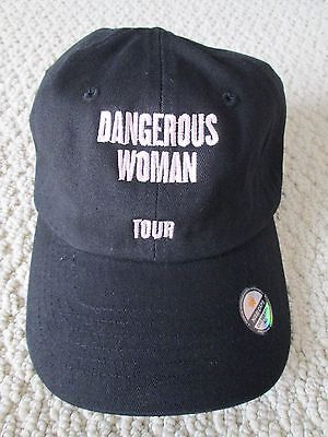 New Auth Ariana Grande Dangerous Woman Tour Merch Vip Black Embroidered Cap Hat