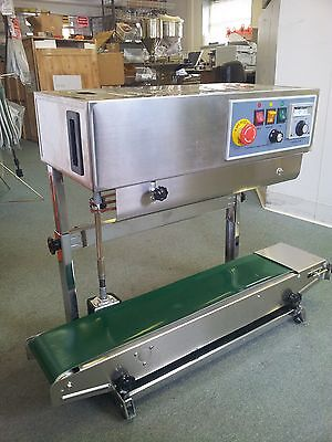 Dingye Fr-900v Veritcal Stainless Steel Continuous Band Sealer Machine