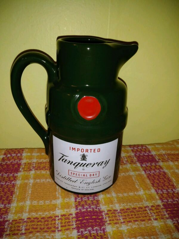 Vintage tanqueray Imported English Gin Ceramic Bar Pitcher