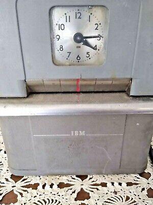 Vintageantique Ibm 2500-5 Time Punch Clock.. It Punches