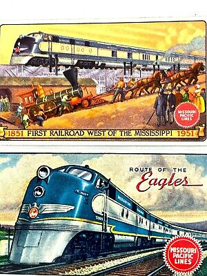 Missouri Pacific Railroad Conductor Business Cards Two