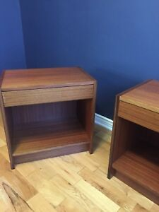 Mid century night or end tables
