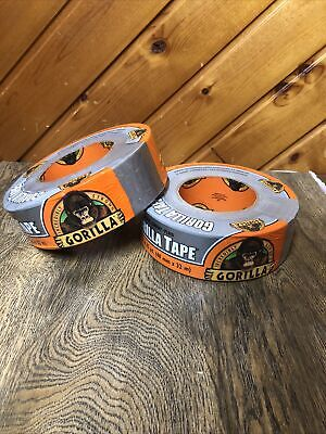 Lot Of 2 Gorilla Duct Tape 1.88 X 35 Yard Silver
