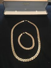 Gold 9ct Plaited Necklace and Bracelet Connolly Joondalup Area Preview