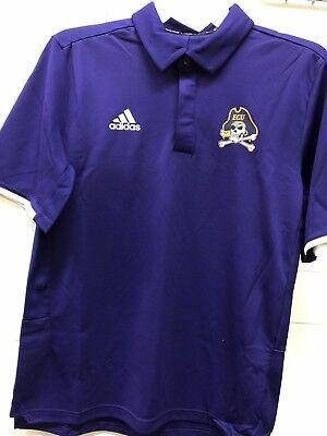 NCAA ADIDAS EAST CAROLINA PIRATES PURPLE POLO WITH LOGO  3XL East Carolina Pirates Logo