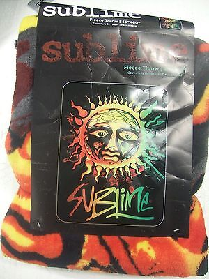New Sublime 40 Oz To Freedom Sun Face Band Plush Fleece Throw Bed Blanket 45X60""