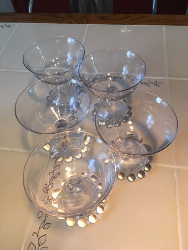 Set of 5 Candlewick Sorbet Glass