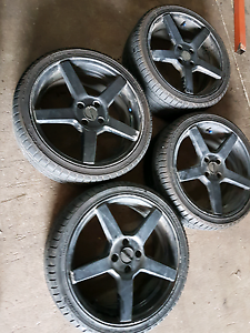 17x7 4x100 PDW near new 205/40R17 tyres Coopers Plains Brisbane South West Preview