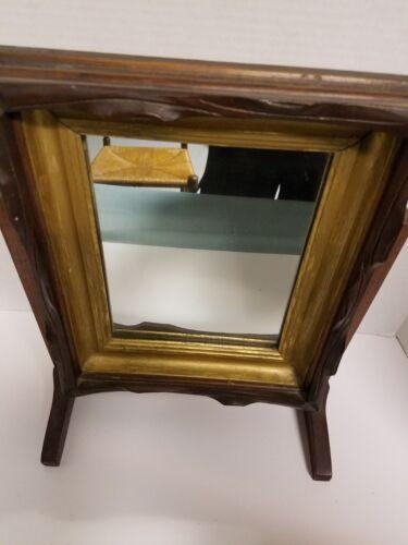 Wooden Frame VINTAGE  Shaving Mirror