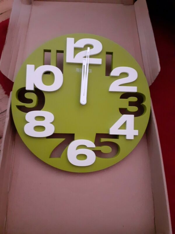 3D+Number+Round+Meidi+Wall+Clock+