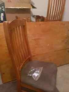 Free Solid kitchen Wooden table with 6 chairs Blakeview Playford Area Preview