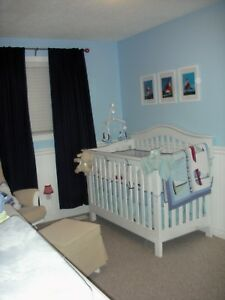 Convertible crib and bedroom set