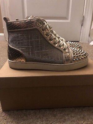 Christian Louboutin Spike Sneaker Gold Size 37.5