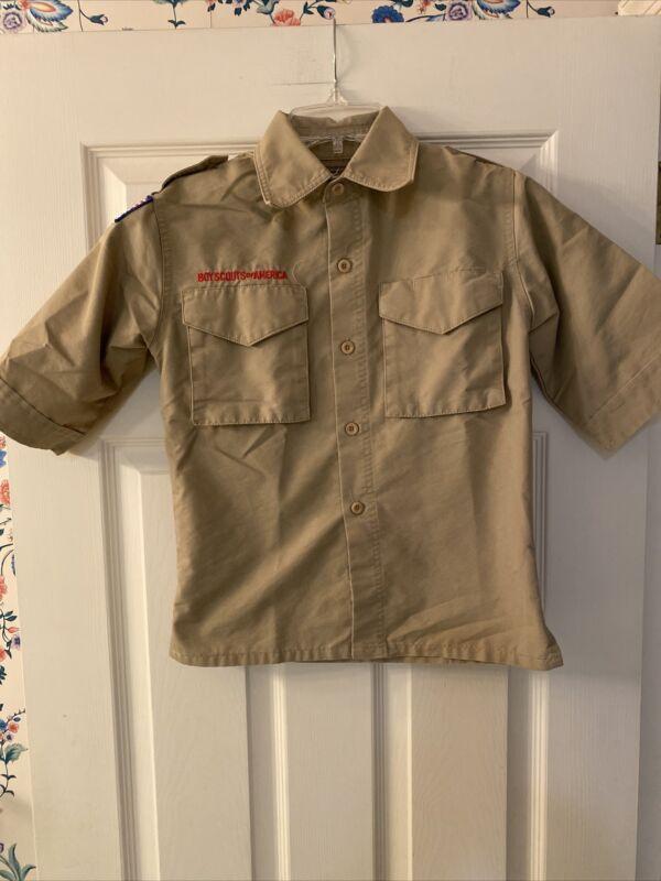 Boy Scout BSA UNIFORM SHIRT Youth Small New Style Short Sleeve H1