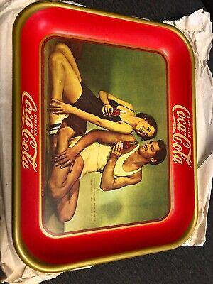 Coca Cola Tray 1934 Repro Johnny Weissmuller Maureen O'Sullivan Tarzan Jane