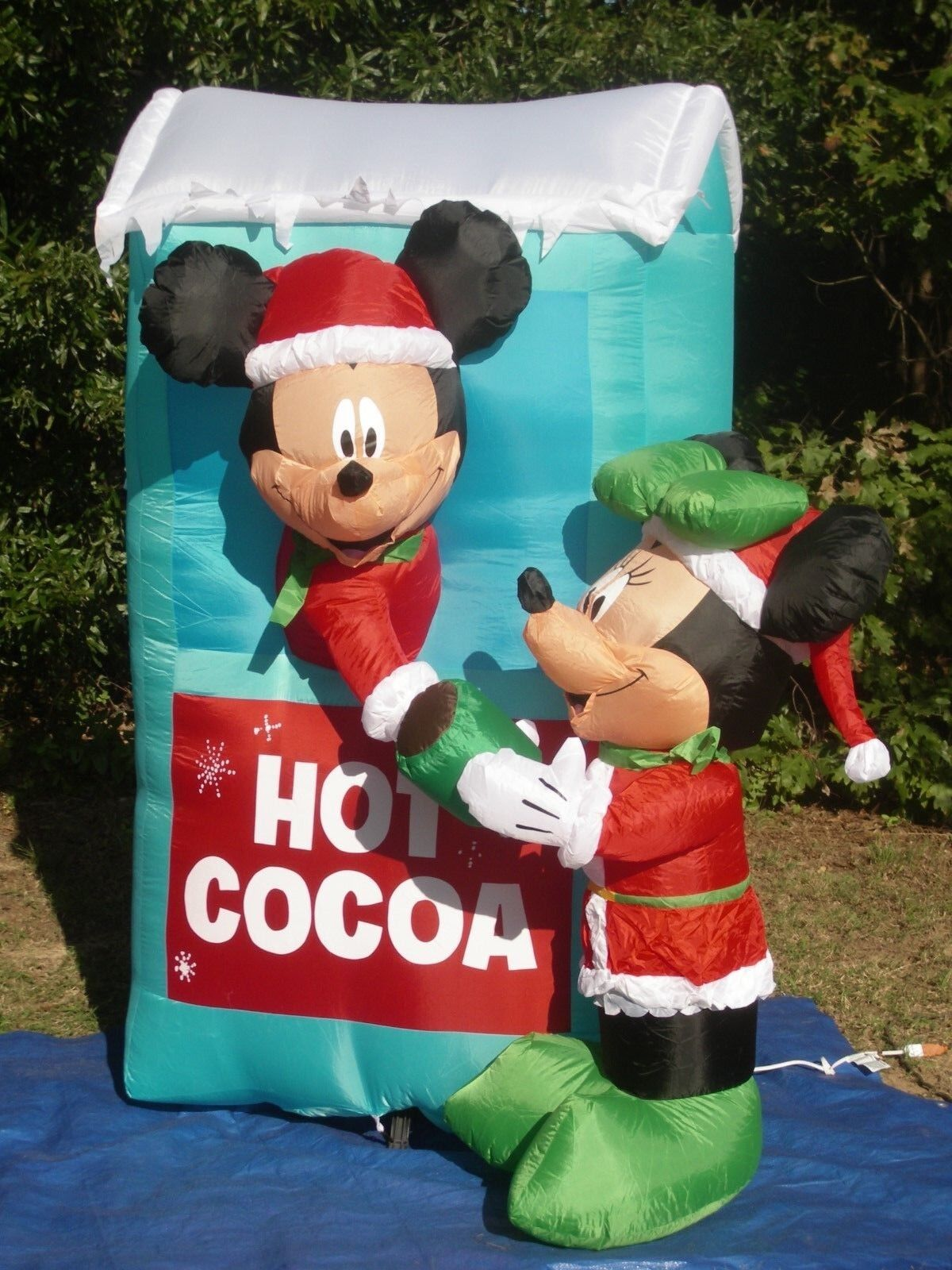6' Lighted Christmas Disney Mickey Minnie Hot Cocoa Stand Inflatable Airblown