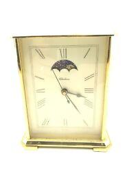 Chelsea Moon Phase (Hermle Quartz 2100) Brass Heavy Mantle Clock (1980's)