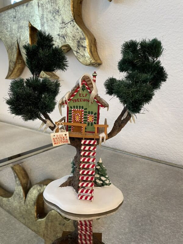 Dept 56 North Pole Village ELF TREE HOUSE Treehouse 56.56446 Brand New!