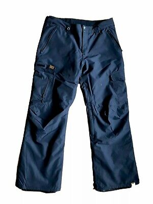 Quiksilver Men's Porter Shell 10k Snowboard Ski Pants XL Black