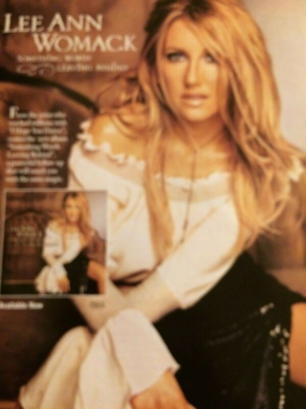 Lee Ann Womack, Something Worth Leaving Behind, Full Page Vintage Promotional Ad