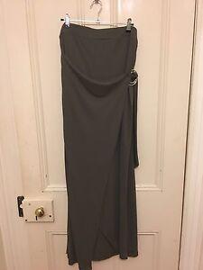 ASOS Long Column Skirt in Khaki - Plus Size 24 Ermington Parramatta Area Preview