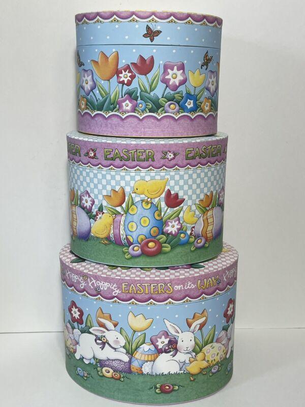 Mary Engelbreit Set of 3 Easter Themed Nesting Box Set Hippity Hoppity Easter