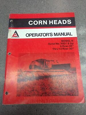 Gleaner Corn Head Operators Manual 71502084