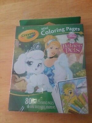 Palace Pets Coloring Pages (Crayola Mini Coloring Pages Disney Palace Pets 80 mini pages & 6 markers NEW)
