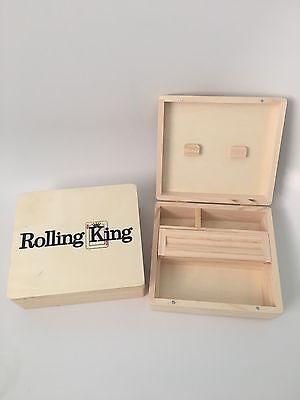 Large Wooden Rolling Box Grass Leaf Tobacco Weed Rizla Smoking Storage Roll Tub