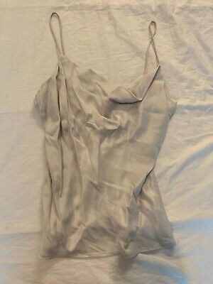 Zara Satin Top Grey Size Small