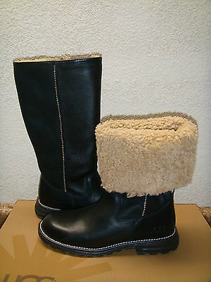 Used, UGG BROOKS BLACK TALL FULL SHEARLING LINED BOOT US 6 / EU 37 / UK 4.5 for sale  Ventura